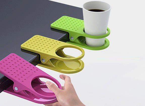 PS Foamed Disposable glass with holder for those running sort of Table Space and Spilling Liquid on Office Table