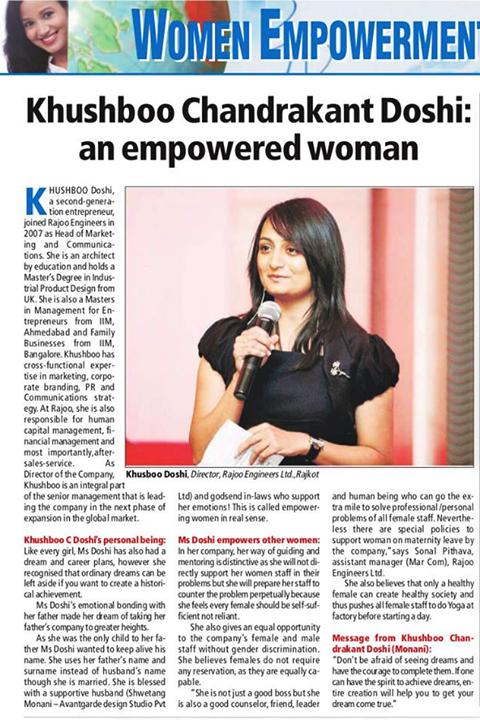 #EmpoweredWomen #YoungEntrepreneur #RajooEngineers #Rajkot