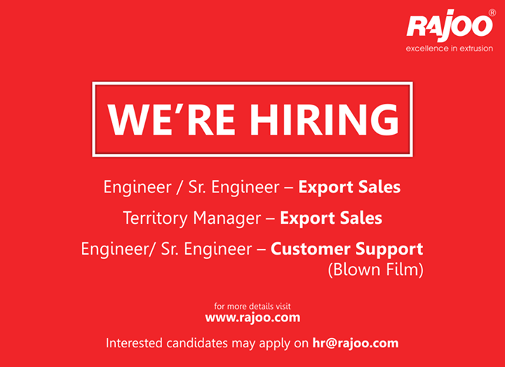 // We are recruiting //  #Careers #RajooEngineers #Rajkot #Hiring