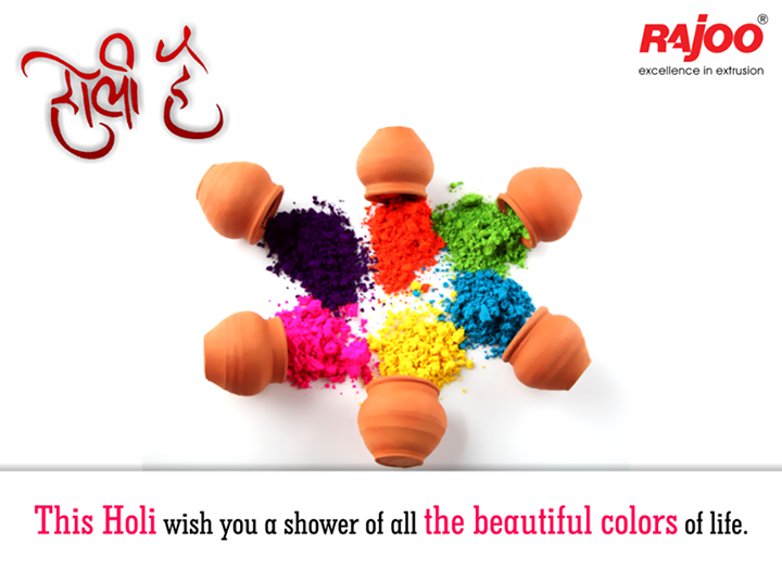 Enjoy the Spirit of the Colorful Festival!  #HappyHoli #SafeHoli #RajooEngineers #Rajkot