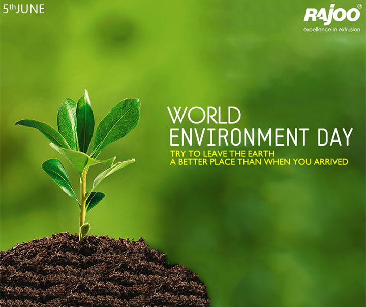 Let's create a world where the environment doesn't need protection!  #WorldEnvironmentDay #EnvironmentDay #Recycle #RajooEngineers #Rajkot