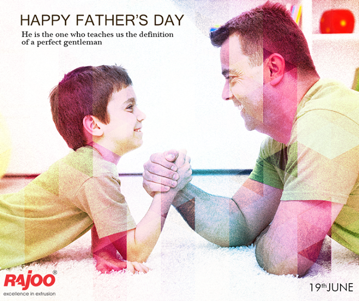 A father is someone you look up to no matter how old you grow.  #HappyFathersDay #FathersDay #RajooEngineers #Rajkot