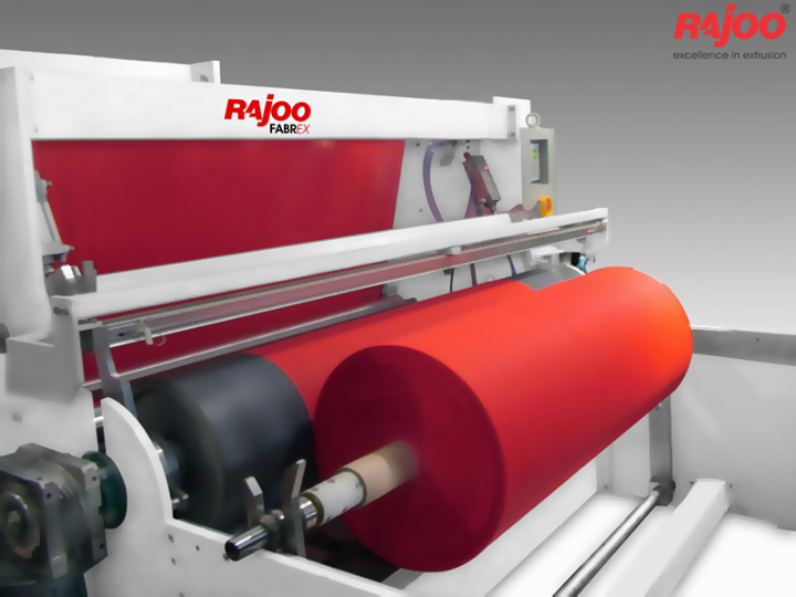 Rajoo pioneered developments in PP Non woven fabric extrusion and has emerged as the only Indian supplier with production capacity ranging from 200 to 500kg/hr and fabric weight range from 12 to 150 gsm depending on applications.  Read More : http://goo.gl/qYqNVv  #RajooEngineers #Rajkot