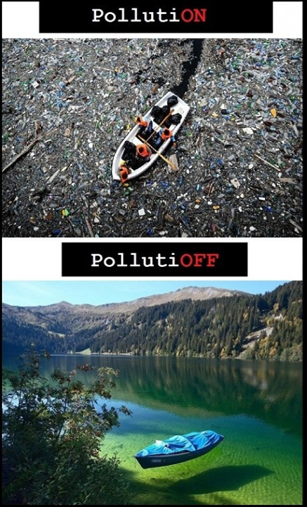 Be the part of the #Solution, NOT the #Pollution.
