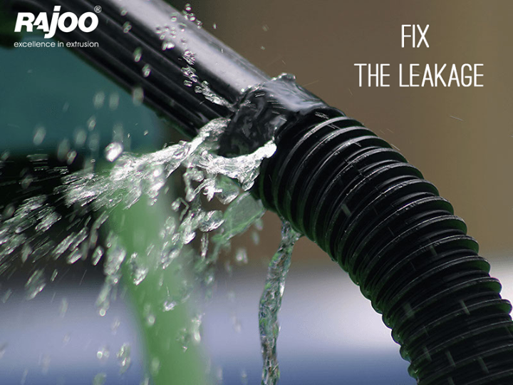 #DidYouKnow, the average household's leaks can account for more than 10,000 gallons of water wasted every year? Fix the leakage now! Share and spread awareness.  #SaveWater #RajooEngineers #Rajkot