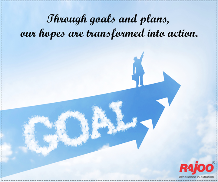 Turn plans into action to reach your goals!  #MondayMotivation #WiseWords #RajooEngineers