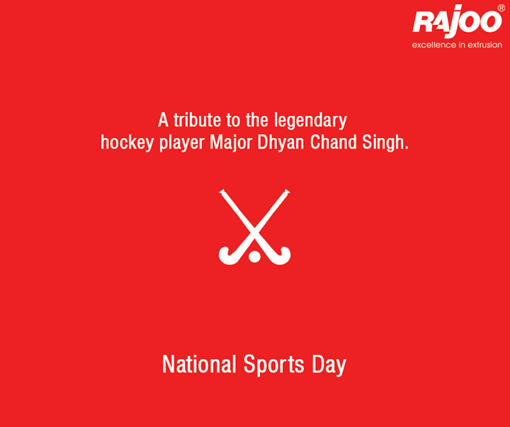 A tribute to the legendary hockey player Major Dhyan Chand Singh.  #NationalSportsDay #MajorDhyanchand #RajooEngineers #Rajkot