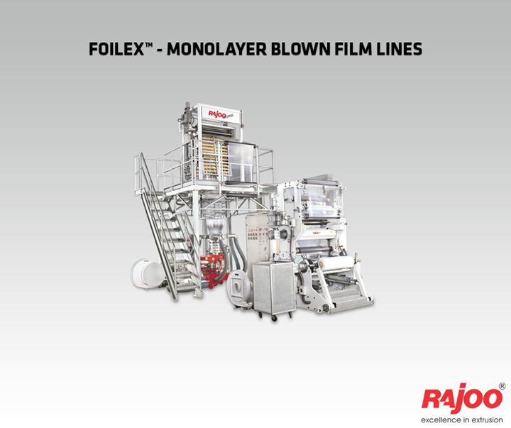 Customers opting for FOILEX can therefore are sure to produce best film quality with economical use of resources, short start-up and low change-over times as well as reduced waste and high productivity.   Read More : http://www.rajoo.com/  #RajooEngineers #Rajkot