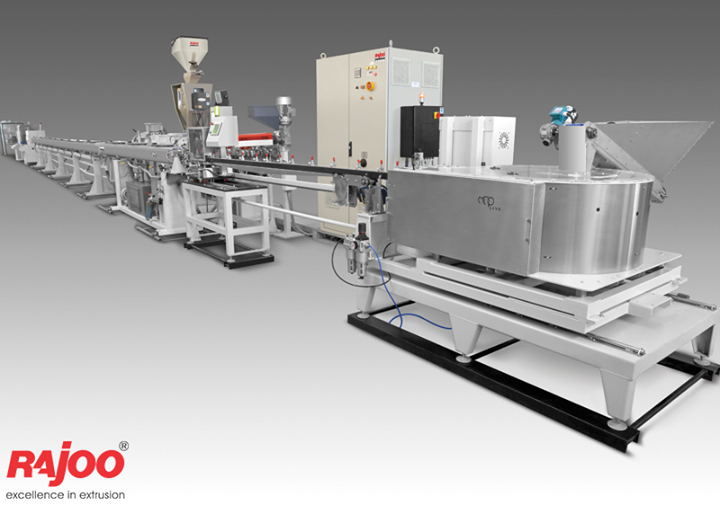 Rajoo offers drip irrigation extrusion systems for round and flat dripper with servo driven dripper insertion device, max output 250kg/hours.   Read More : https://goo.gl/6oiCFx  #RajooEngineers #Rajkot