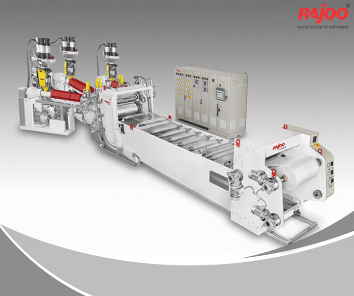 LAMINA series of sheet lines are designed for absolute ease of operation and are available in a host of configurations to suit individual customer's requirements with output ranging from 110 kg/hr to 1000 kg/hr, width ranging from 540 mm to 1400 mm, in single to five layer configuration for processing various polymers like PS, PP, PE and PET.  Read More : http://www.rajoo.com/   #RajooEngineers #Rajkot