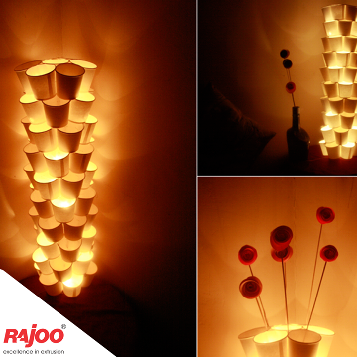 Isn't it a great way to enlighten your interior this #Diwali?  #CreativeUseOfPlastic #RajooEngineers #Rajkot