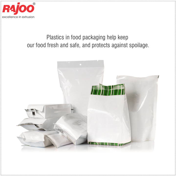#DidYouKnow  Plastics in food packaging help keep our food fresh and safe, and protects against spoilage. Plastic packaging provides a hygienic and safe environment for foods and medicine by protecting against contamination while keeping foods fresh throughout use. It also often provides tamper-evident features for food and medicine.  #PlasticsInFoodPackaging #RajooEngineers #Rajkot