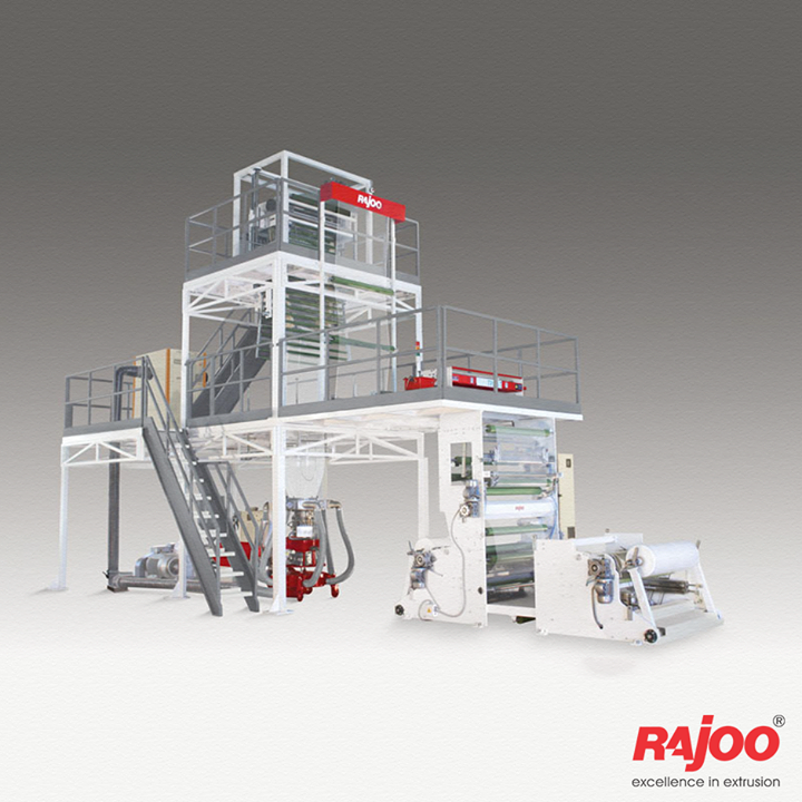 Rajoo offers widest range of customized monolayer blown film lines – FOILEX, to suit a broad spectrum of resins, applications and output levels. Customers opting for FOILEX can therefore be sure to produce best film quality with economical use of resources, short start-up and low change-over times as well as reduced waste and high productivity.   Read More: www.rajoo.com/Monolayer_Blown_Film_Lines.html#left-tab1  #RajooEngineers #Rajkot