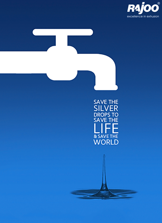 Save the valuable drops of water for a safe future.  #SaveWater #RajooEngineers #Rajkot