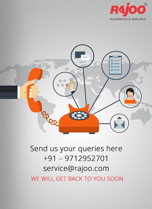Send in your queries to us!   #ContactUs #RajooEngineers #Rajkot