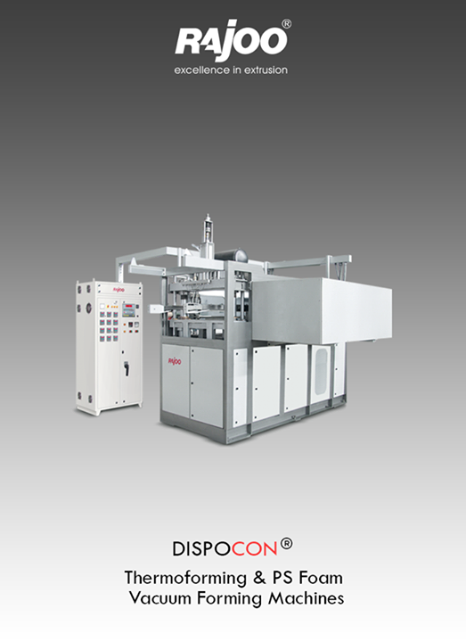 Dispocon vacuum formers are exceptionally sturdy, durable and low maintenance machines firmly established as industry's most energy efficient and least vibrating vacuum formers with patented trim press.  #RajooEngineers #Rajkot