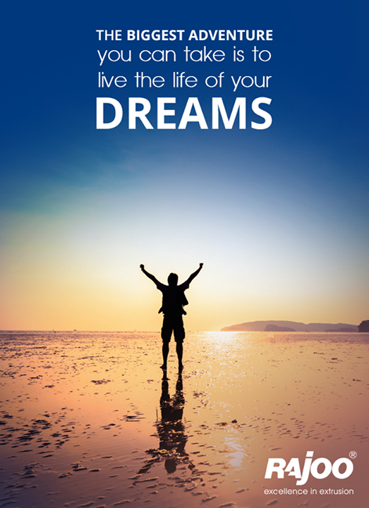 """""""Life is either a great adventure or nothing.""""  #RajooEngineers #Rajkot"""
