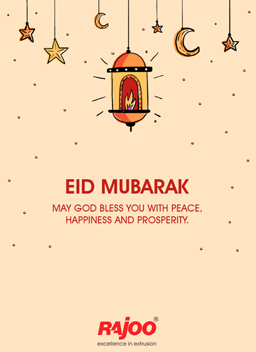 May God bless you with peace, happiness and prosperity.  #EidMubarak #Eid2017 #RajooEngineers #Rajkot