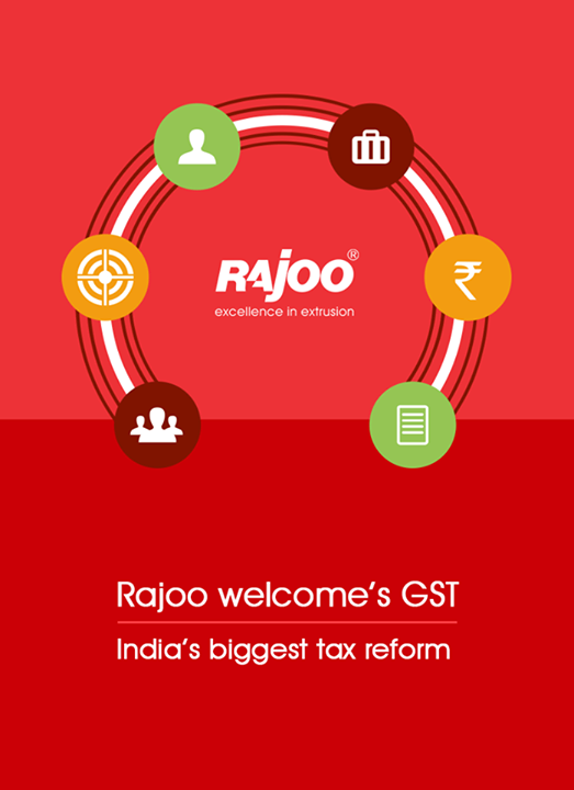 Rajoo Engineers Limited,India welcome's GST - India's biggest tax reform.  #WelcomeGST #GST #OneNationOneTax #RajooEngineers #Rajkot