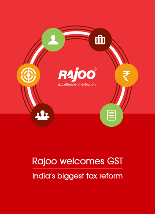 Rajoo Engineers Limited,India welcomes GST - India's biggest tax reform.  #WelcomeGST #GST #OneNationOneTax #RajooEngineers #Rajkot
