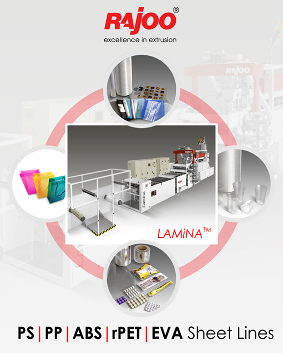 This Multi-application machinery includes thermoformable HIPS/PP/PET sheet for food packaging, blister packaging, automobile industry, laminated sheet, microwave ovenable PP/PET sheet, PP sheet of stationery files, folders and pouches etc.  #RajooEngineers #Rajkot