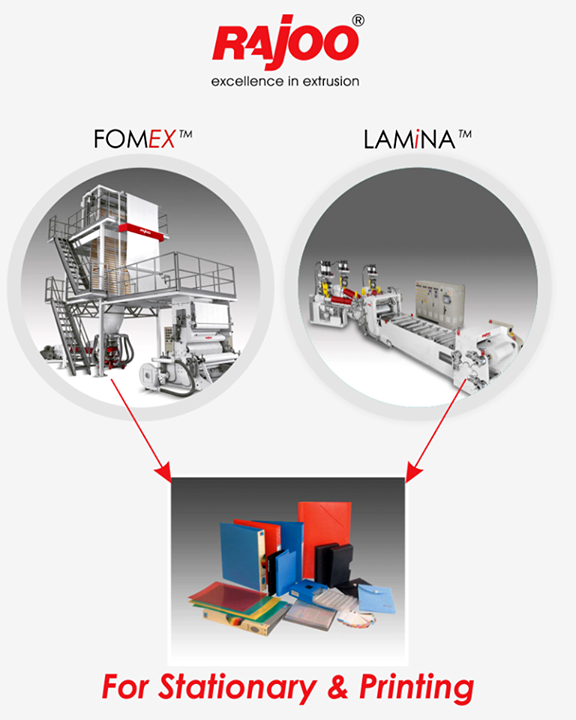 Lamina & Fomex to take your stationary production business to a new peak.   #RajooEngineers #Rajkot