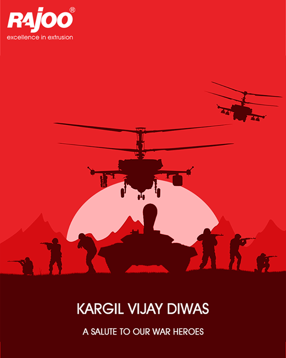 Tributes to the heroes who fought for the pride, security and integrity of our Nation!   #KargilVijayDiwas #RajooEngineers #Rajkot