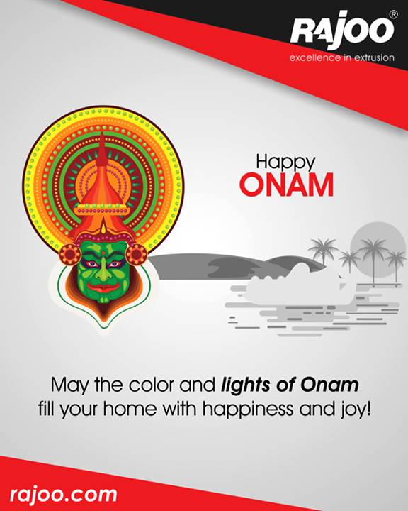 May the color and lights of #Onam fill your home with happiness and joy!  #HappyOnam #RajooEngineers #Rajkot