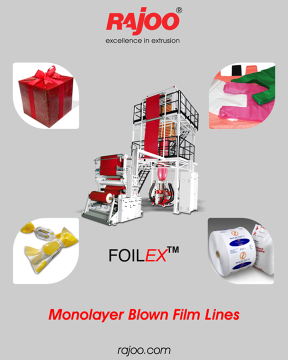 Customers opting for FOILEX can therefore be sure to produce best film quality with economical use of resources, short start-up and low change-over times as well as reduced waste and high productivity.  #RajooEngineers #Rajkot