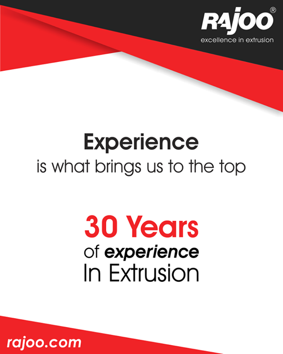 Experience making us expert in extrusion!  #RajooEngineers #Rajkot