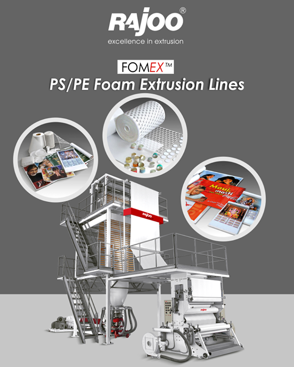 The blown foamed films find applications in banners, wall-calendars and host of other stationery items whereas medium density expanded PE sheets are extensively used for bottle cap liners and low density expended PE film in general packaging and mattresses.  #RajooEngineers #Rajkot