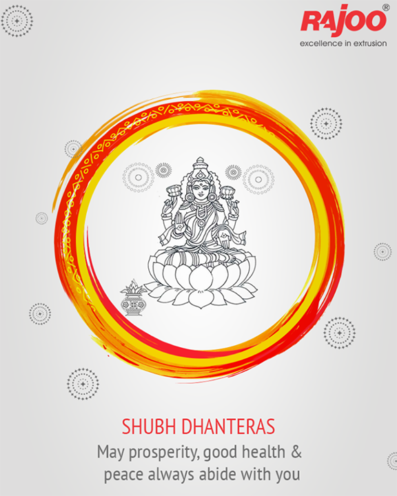 Warm wishes on the auspicious occasion of #Dhanteras.  #HappyDhanteras #DhanterasWishes #RajooEngineers #Rajkot