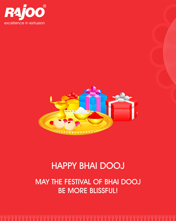 May the festival of Bhai Dooj be more blissful!  #HappyBhaiDooj #BhaiDooj #FestiveWishes #Diwali #IndianFestivals #RajooEngineers #Rajkot
