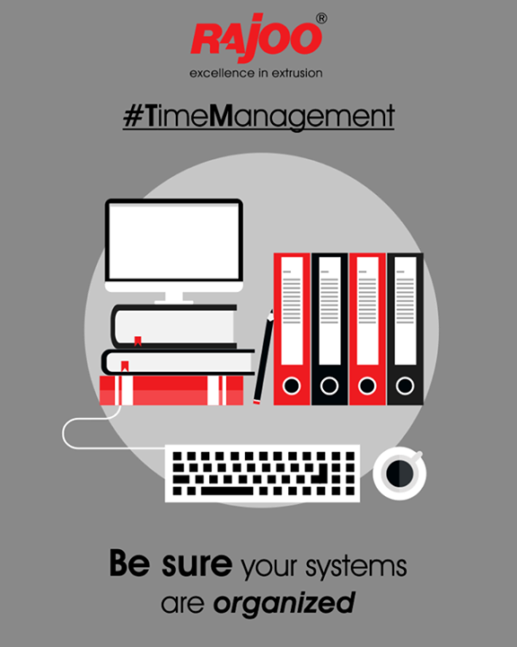 Are you wasting a lot of time looking for files on your computer? Take the time to organize a file management system. Is your filing system slowing you down? Redo it, so it's organized to the point that you can quickly lay your hands on what you need.  #TimeManagement #RajooEngineers #Rajkot