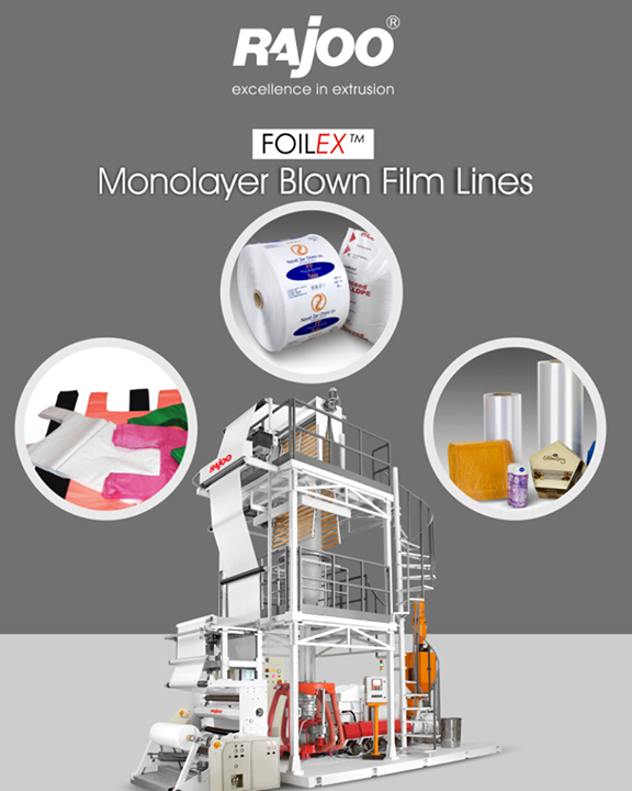 Rajoo Engineers Limited,India offers widest range of customized monolayer blown film lines – FOILEX, to suit a broad spectrum of resins, applications and output levels.   #RajooEngineers #Rajkot