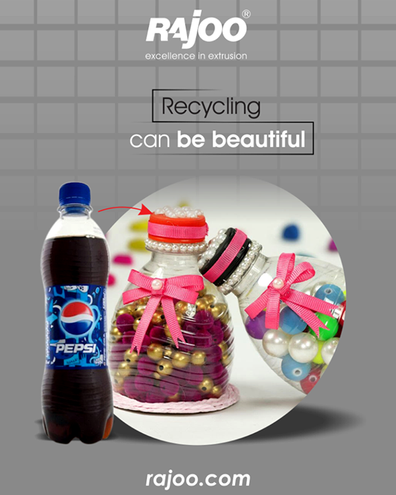 Let creativity save the earth in a beautiful way.   #Recycle #RajooEngineers #Rajkot