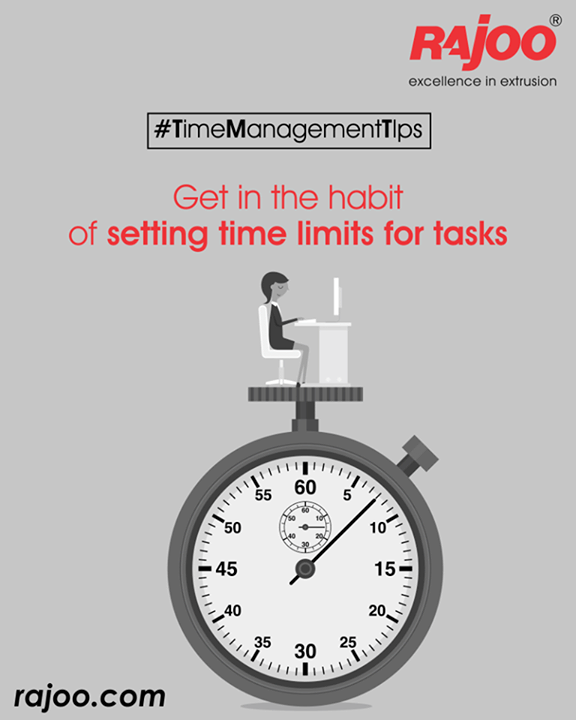 For instance, reading and answering email can consume your whole day if you let it. Instead, set a limit of one hour a day for this task and stick to it.  #TimeManagement #RajooEngineers #Rajkot