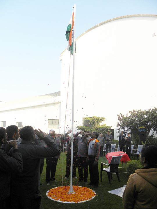 Glimpses from the #RepublicDay celebrations at Rajoo Engineers Limited,India!  #HappyRepublicDay #Salute #India #RajooEngineers #Rajkot #PlasticMachinery #Machines #PlasticIndustry