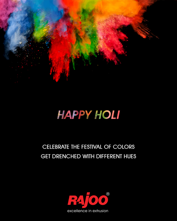 Celebrate the festival of colors.  #HappyHoli #Holihai #HoliFestival #IndianFestivals #Holi2018 #RajooEngineers #Rajkot #PlasticMachinery #Machines #PlasticIndustry