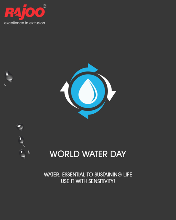 Water, essential to sustaining life use it with sensitivity!  #WorldWaterDay #SaveWater #WaterDay #WaterIsLife #RajooEngineers #Rajkot #PlasticMachinery #Machines #PlasticIndustry
