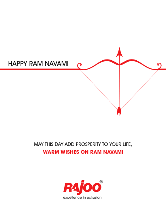 May this day add prosperity to your life.   #RamNavami #Ramnavmi #IndianFestivals #JaiShreeRam #RajooEngineers #Rajkot #PlasticMachinery #Machines #PlasticIndustry