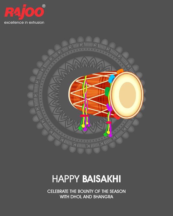 Celebrate the bounty of the season with Dhol and Bhangra.  #HappyBaisakhi #Baisakhi #RajooEngineers #Rajkot