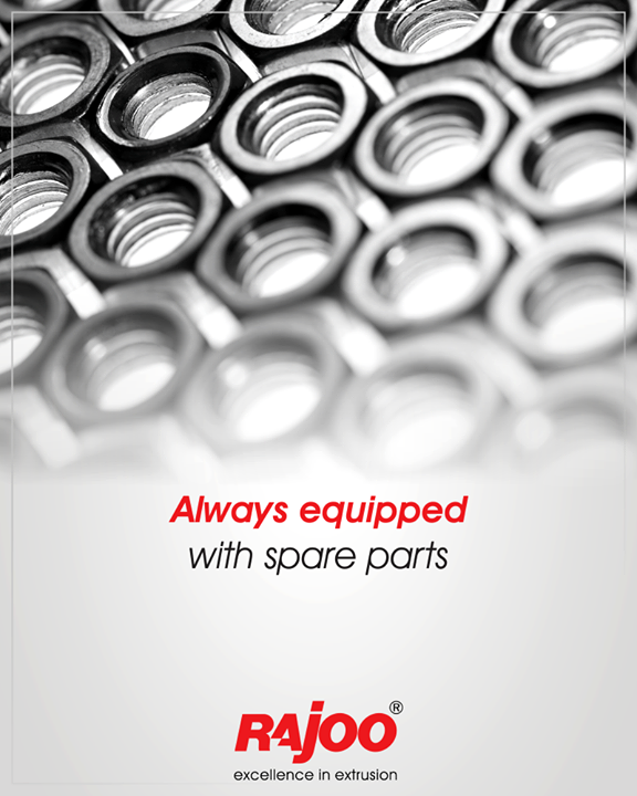 We maintain stock of all essential spare parts to keep your production process uninterrupted.   #RajooEngineers #Rajkot #PlasticMachinery #Machines #PlasticIndustry