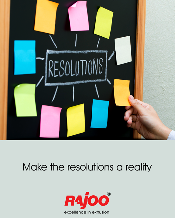 Today is the perfect day to start accomplishing your resolutions.  #RajooEngineers #Rajkot #PlasticMachinery #Machines #PlasticIndustry