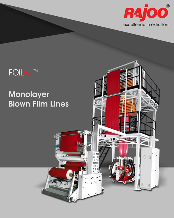 Customers opting for FOILEX can be sure to produce best film quality with economical use of resources, short start-up and low change-over times as well as reduced waste and high productivity.  #RajooEngineers #Rajkot #PlasticMachinery #Machines #PlasticIndustry