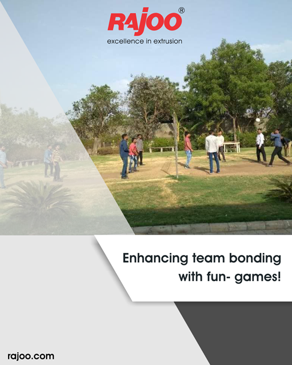 Enhancing team bonding with games! Glimpses from the Sunday volley-ball game time a tradition amongst #Rajoo employees to strengthen #teamspirit!  #RajooEngineers #Rajkot #PlasticMachinery #Machines #PlasticIndustry