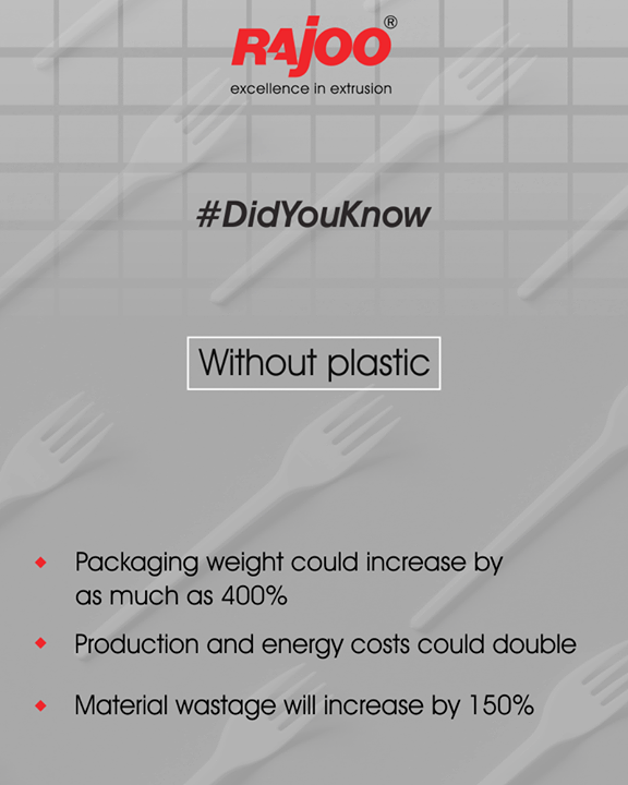 Repercussions which can occur in absence of plastic.   #DidYouKnow  #RajooEngineers #Rajkot #PlasticMachinery #Machines #PlasticIndustry