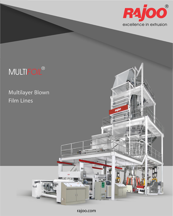 Multifoil lines are available with advanced automation features like integrated gsm control, gravimetric blending and dosing, contact/non-contact type IBC system with pneumatic/digital correction, automatic thickness control, fully automatic center-gap-surface winder and integrated process control.  #RajooEngineers #Rajkot #PlasticMachinery #Machines #PlasticIndustry
