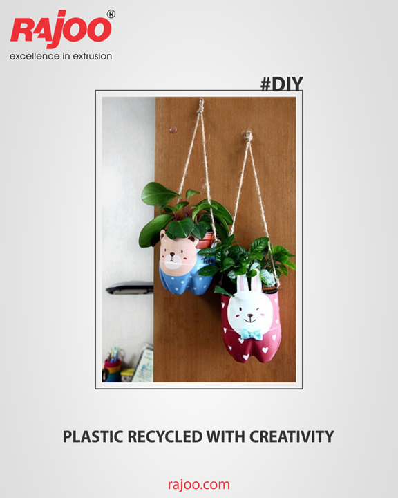 Challenge your creativity to reuse plastic bottles as plastic pots for your home.  #DIY #RajooEngineers #Rajkot #PlasticMachinery #Machines #PlasticIndustry