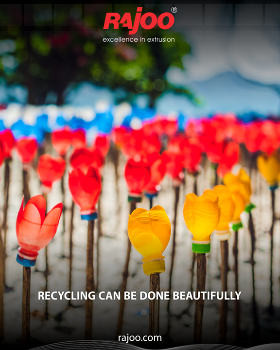 Can you challenge your creativity to reuse plastic in a beautiful way?  #RajooEngineers #Rajkot #PlasticMachinery #Machines #PlasticIndustry